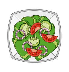 salad healthy food vector image