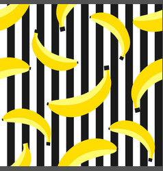Seamless pattern with bananas on background vector