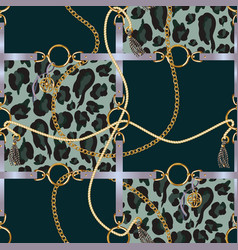 seamless pattern with belts chain vector image