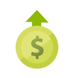 Sign dollar for growth vector