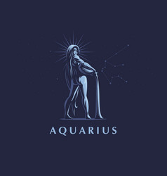 sign of the zodiac aquarius vector image