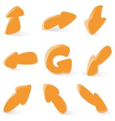 Smooth arrows icons vector image
