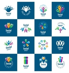 Social Group logos vector