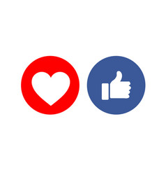Social media share icons showing approval vector