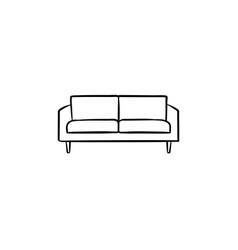 sofa hand drawn sketch icon vector image