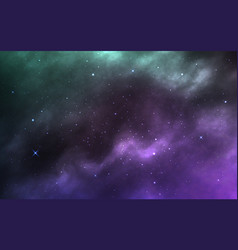 Space background realistic cosmos texture with vector