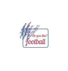 Sticker Banner Poster for football vector