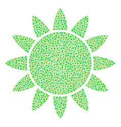 sun composition of small circles vector image