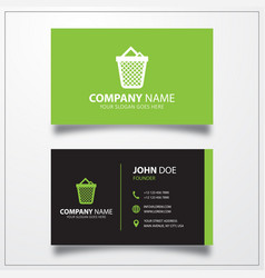 Trash icon business card template vector