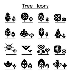 Tree icon set graphic design vector