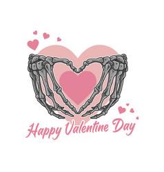Valentine love skeleton bone symbol vector