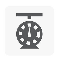weighing icon on white vector image