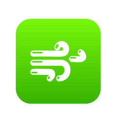 wind icon green vector image