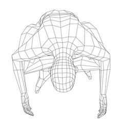 wireframe man relaxing in lotus position vector image