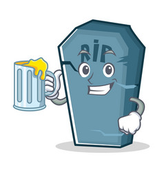 With juice tombstone character cartoon object vector