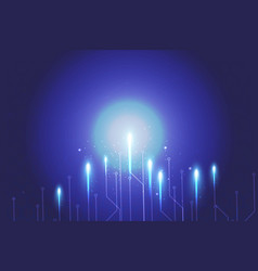 blue background abstract technology network vector image vector image