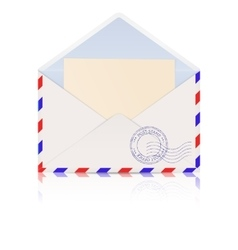 Envelope International mail correspondence vector image vector image
