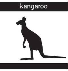 Silhouette kangaroo in grunge design style animal vector