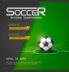 Soccer national championship vector