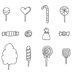 Sweets and candies vector image vector image