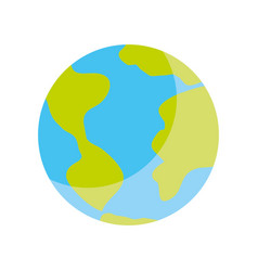 world planet isolated icon vector image