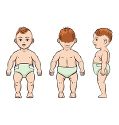 Baby poses vector image vector image
