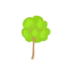 Green tree with a rounded crown icon vector image