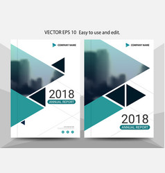 green triangle annual report leaflet brochure vector image