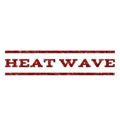 Heat Wave Watermark Stamp vector image vector image