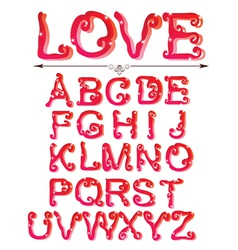 love abc vector image vector image