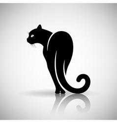 Stylized Black Cat vector image
