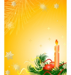 candle Christmas tree vector image