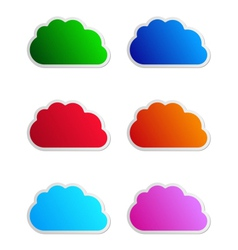 cloud labels vector image vector image