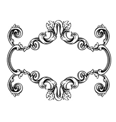 Floral label frame 1 vector