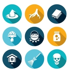 Witch icons set vector
