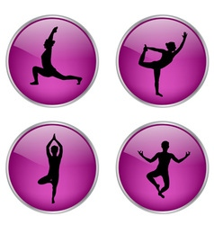 yoga buttons vs vector image vector image