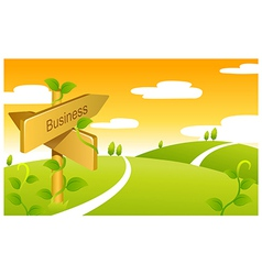 Business Sign boards vector image