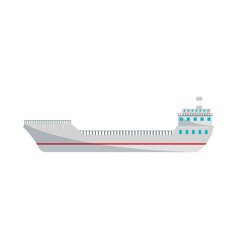 container ship isolated icon in flat style vector image vector image