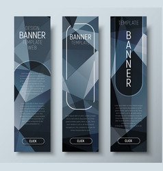 design of vertical web banners with polygonal vector image vector image