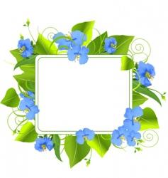 summer frame vector image vector image