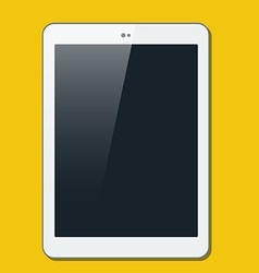 The tablet in ploskjv style vector image vector image