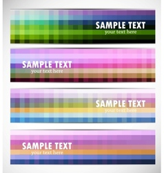 Abstract pixelated banners vector image