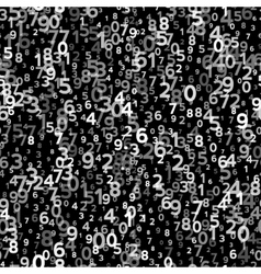 Abstract Seamless Background with Numbers vector