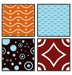 Abstract seamless collection vector image