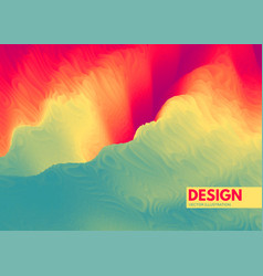 Abstract wavy background with dynamic effect vector