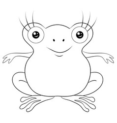 adult coloring bookpage a cute frog image vector image