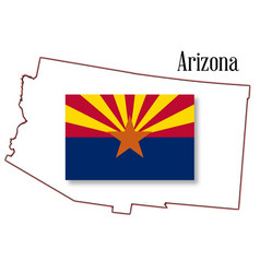 arizona state map and flag vector image