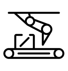 Assembly line icon outline style vector