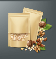 Bags with nuts vector