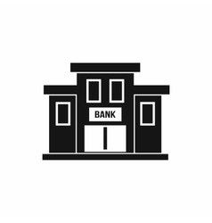 Bank building icon simple style vector